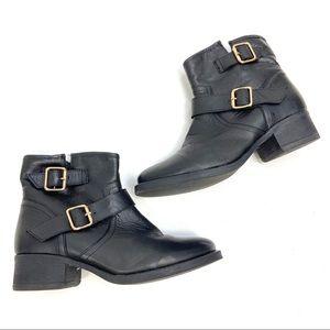 Steve Madden | Genuine Leather Combat Boot Black